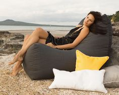 Extensive outdoor beanbag range made with sunbrella fabric Australia wide delivery