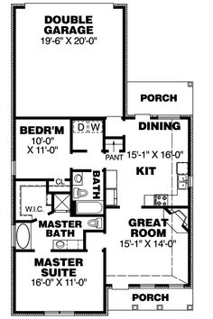 traditional house plan first floor 025d 0066 house plans and more - Simple House Floor Plans One Story