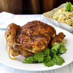 Indian Spiced Roast Chicken A roast chicken dinner is a great Autumn comfort food meal but sometimes it's nice to mix it up and try something a little different to perk up your taste buds; wouldn't want them getting lazy over the winter. Our family loves Indian dishes of all kinds and here we just …