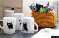 Souriez en buvant votre thé dans une tasse personnalisée. #IKEABE #DIY #idéeIKEA