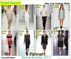 Fishnet #Fashion #Trend for Spring Summer 2014 #Spring2014 #Trends
