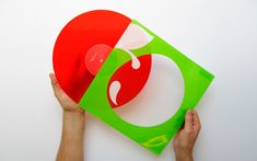 Red vinyl with a two color screen printed clear pvc sleeve. | www.peterandpaul.co.uk