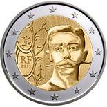 2 euro 150th Anniversary of Pierre de Coubertin`s Birth - 2013 - Series: Commemorative 2 euro coins - France