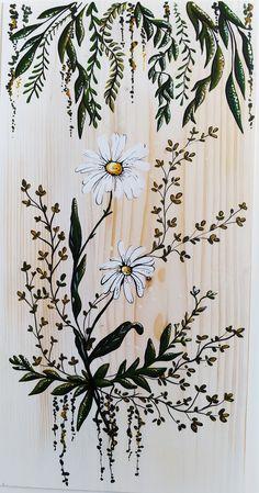Flower Art, Hand Painted, Shower, Illustration, Prints, Painting, Vintage, Rain Shower Heads, Art Floral