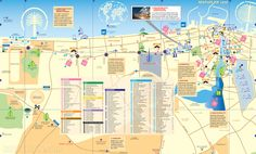Tourist map of Dubai attractions, sightseeing, museums, sites, sights, monuments and landmarks