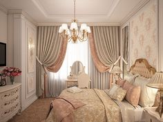 Bedroom design in classical style-5
