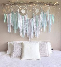 """✨ """"The world we are experiencing today is the result of our collective consciousness, and if we want a new world, each of us must… Diy Room Decor, Bedroom Decor, Wall Decor, Home Decor, My New Room, My Room, Dreamcatchers, Creation Deco, Big Girl Rooms"""