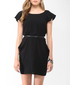 Draped Sheath Dress w/ Belt (Black). Forever 21. $27.80