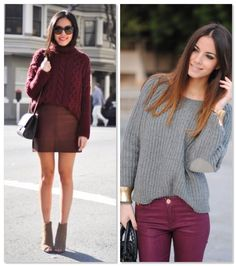 burgundy winter trend