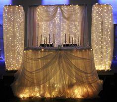 behind bridal table decoration - Heritage Hall
