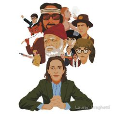 Celebrate the world of Wes Anderson with this cool Tshirt that features many of your favorite characters. The shirt comes in a variety of colors and would be a great addition to any wardrobe.