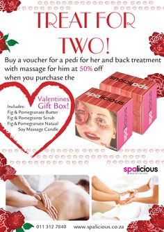 #ValentinesDay.  #spoil the ones you love.  To find out how you can get your hands on these delicious gift boxes and magical treatments contact us on www.spalicious.co.za Gift Boxes, Pedi, How To Find Out, Hands, Gifts, Presents, Wine Gift Sets, Treat Holder, Gift Packaging