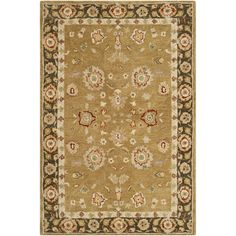 Safavieh Handmade Taj Mahal Gold/ Chocolate Wool Rug