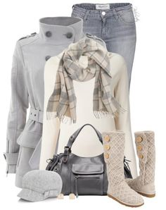Winter Outfit With J.Crew Plaid Scarves