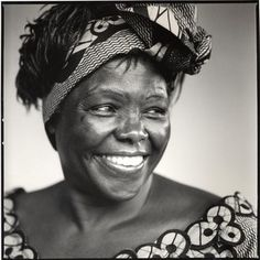 wangari maathai - kenyan environmentalist and human rights campaigner and the first african woman who won the nobel peace prize