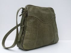 LEATHER BAG  Sage Green With Texture by artist/designer elizabethzmow #leather #handbags #purses