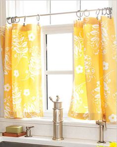 Click Pic for 50 DIY Home Decor Ideas on a Budget - Cafe Curtains - DIY Crafts for the Home