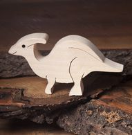 Parasaurolophus, wooden dinosaur toys