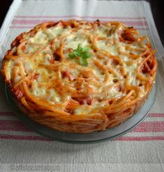 Macaroni And Cheese, Spaghetti, Pie, Cooking, Ethnic Recipes, Desserts, Bacon, Food, Torte