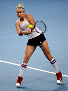 Bethanie Mattek-Sands' style is best known for wearing knee-high socks with her tennis outfits.