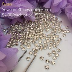 NEW! Sew on rhinestones  Top quality SS12 3mm crystal clear rhinestones on claw setting  Price: $2:00/pack of 36  Pls WA to 8998741 for enquiries & purchase Payment and Collection  @house_of_rozai at Serusop #rhinestones #rozai #prettylittlething #fashion
