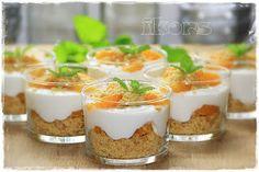 Käse Sahne Kuchen im Glas 250 g Sahnequark (40%) 200 g Schmand 80 g Zucker 25 g frischen Zitronensaft 15 Sek./St.3 ...