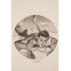 50's Zodiac Drawings | From a unique collection of antique and modern drawings at http://www.1stdibs.com/furniture/wall-decorations/drawings/