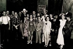Steel guitarist Billy Robinson stands (4th from left) next to #country #music legend Red Foley (in white hat) along with more Grand Ole Opry greats, including Hank Williams (in gray hat, back row).