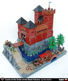 Castle of the Order of Black Falcons by Kris Kelvin.  I'm a huge fan of his MOCs.  I love the attention to detail and the clever use of pieces.