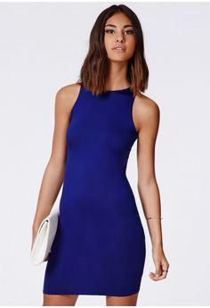 Missguided -  Alison Racer Bodycon Dress Cobalt