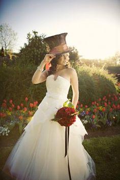 Alice in wonderland vintage wedding decor, wedding invitations, wedding flowers, antique, shabby chic, mad hatter, playing card invitations. www.offbeatinvitations.com www.nellybean.etsy.com www.nelliadesigns.com