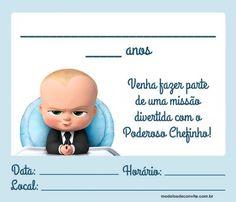 Convite Poderoso Chefinho  20 Modelos Super Divertidos! – Modelos Boss 2, Happy Birthday Baby, Boss Baby, Pj Mask, Baby Party, Smurfs, Family Guy, Samara, Yuri