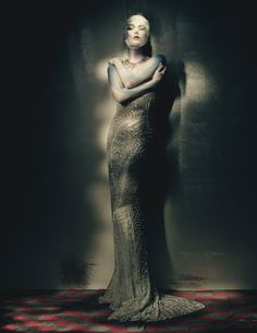Painted Lady: Kate Moss by Paolo Roversi for W Magazine April 2015 - Couture Spring 2015
