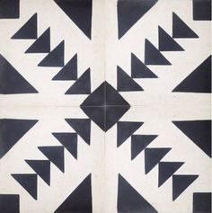 Dramatic Contrast: 20 Gorgeous Black & White Tile Patterns Tulum tile from The Cement Tile Shop, $6.40 per tile
