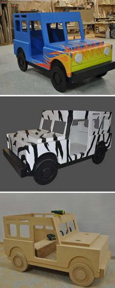 Jeeps! The rough and tumble, rugged car of choice for adventurers the world over. And now, your little one can have one of their very own! Our Jeep Bed and Jeep Playhouse are sure to please, whether they're for a dream safari, or an imaginary red rock climb. Click to learn more about these awesome indoor playhouses and beds.
