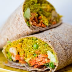 curried quinoa & avocado wrap - vegan