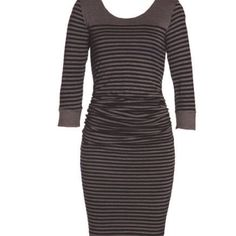 Layer'd Stripe Gathered Detail Dress          www.keona.com.au