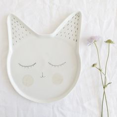 """Lovely handmade plate made of porcelain """"Andie"""""""