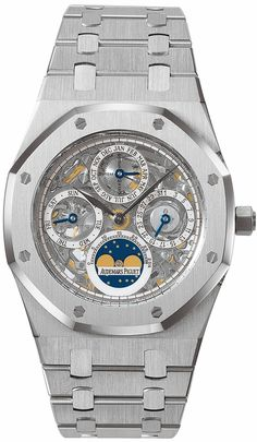Audemars Piguet Royal Oak Perpetual Calendar Automatic Platinum Mens Watch 25829PT.OO.0944PT.01