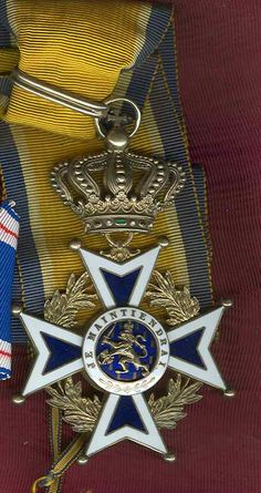 Netherlands Order of Orange Nassau Grand Officer Commander Badge, a very nice old quality in silver, gilt and enamel with original full ribbon.