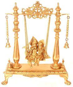 Radha krishna in Swing in brass