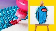 Diy Crafts Life Hacks, Diy Crafts For Girls, Fun Diy Crafts, Diy Arts And Crafts, Paper Crafts, 5 Min Crafts, 5 Minute Crafts Videos, Diy Crafts Videos, Cute Easy Drawings