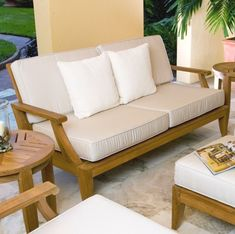 Laguna Teak Outdoor Love Seat Sofa from Westminster Teak Furniture