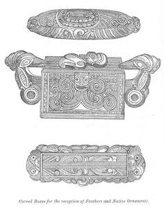 Waka huia me te papahou Maori Designs, Wood Carving, Art Work, Henna, Symbols, Culture, Pretty, Clothes, Image