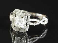 Diamond & fourteen karat white gold ring, sold for $2750 as lot 1213-0627 on December 4, 2013.
