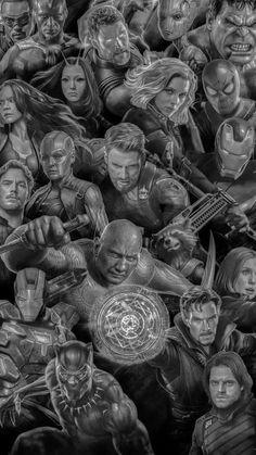 "Panel ""Avengers Infinity War – Allstars Grey"" from Marvel The Avengers, Avengers Film, Avengers Quotes, Avengers Imagines, Marvel Comics, Marvel Films, Marvel Memes, Marvel Characters, Marvel Universe"