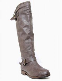 Back #Stud Zip Riding Boot
