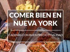 ¿Dónde comer bien y a buen precio en Nueva York? Recopilamos delis, salad bars y hamburgueserías que te gustarán.