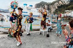Zendaya, Thylane Blondeau and Sonia Ben Ammar embrace colorful prints in Dolce & Gabbana's spring 2017 campaign
