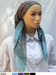 Printed Paisley Modest Head Covering